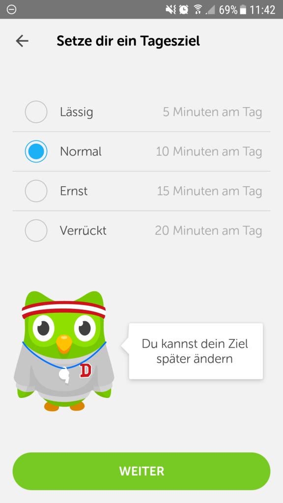 Duolingo Screen 1