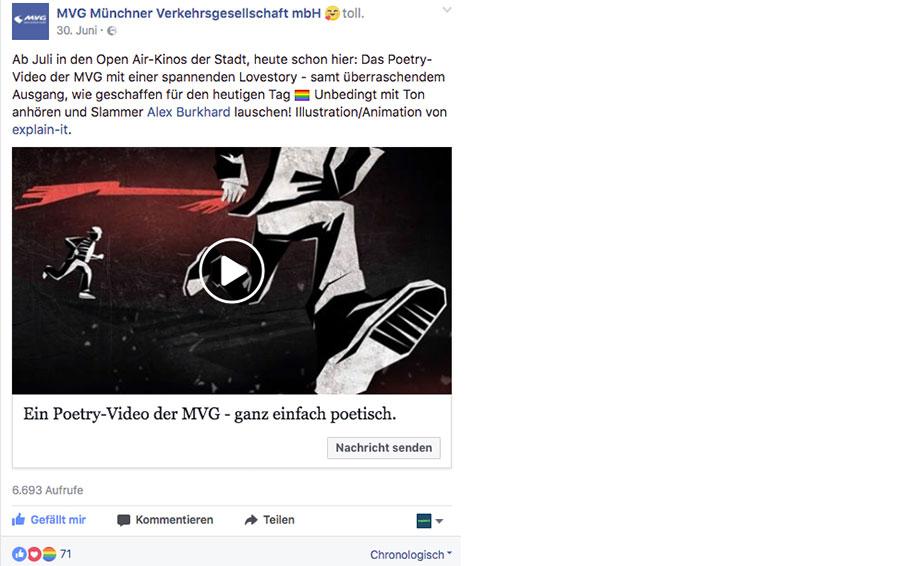 Facebookpost MVG