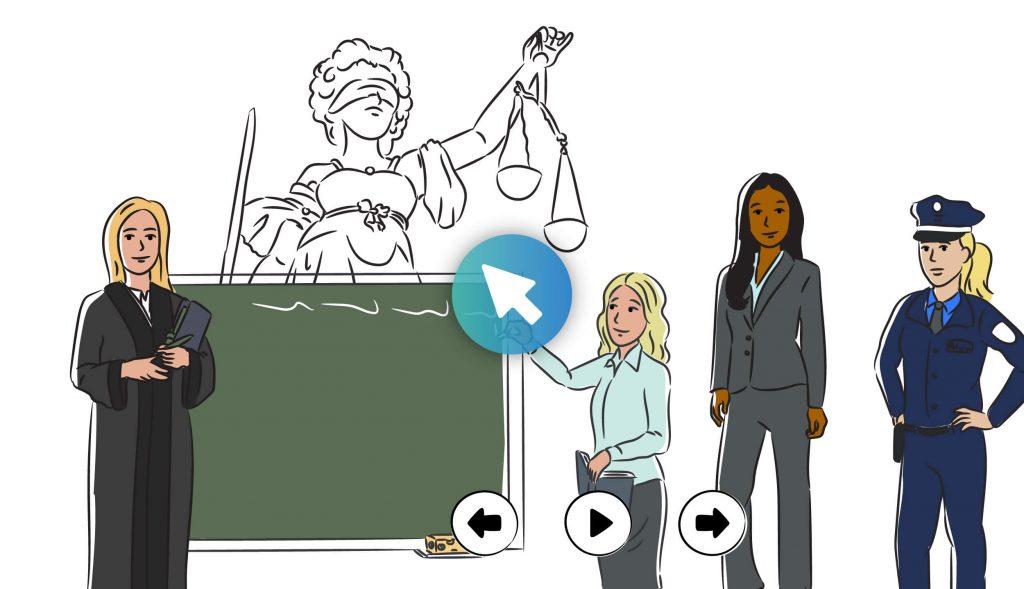 Interaktiver Erklärfilm Bayerisches Ministerium der Justiz