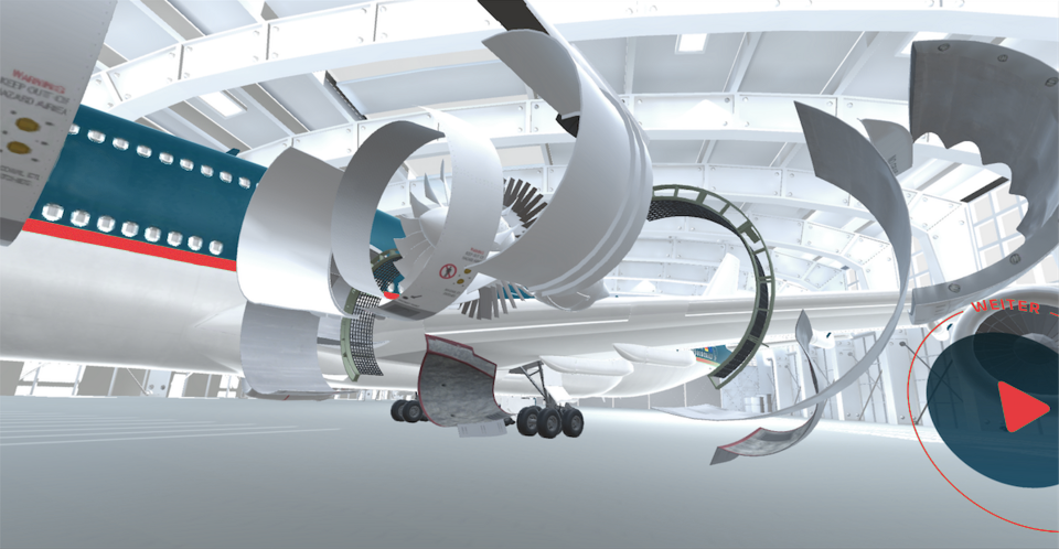 Virtual Reality Flugzeug